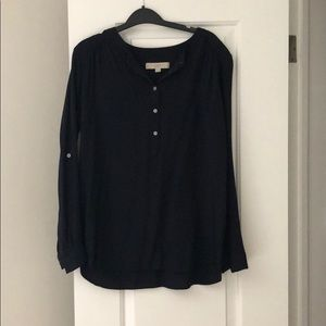 Loft full sleeve navy blue shirt